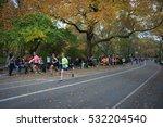 marathoners and spectators at... | Shutterstock . vector #532204540