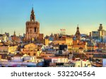 aerial view of the old town in... | Shutterstock . vector #532204564