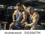 an image of two men at the gym   Shutterstock . vector #532206754