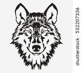 wolf bolt emblem  mascot head... | Shutterstock .eps vector #532207336
