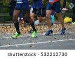 closeup of runners shoes ... | Shutterstock . vector #532212730