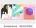 set of abstract futuristic... | Shutterstock .eps vector #532219354