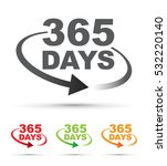 365 days a year around the... | Shutterstock .eps vector #532220140