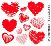 red heart icons. vector... | Shutterstock .eps vector #532221568