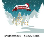 christmas illustration of santa ... | Shutterstock .eps vector #532227286