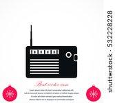 radio icon vector  flat design... | Shutterstock .eps vector #532228228