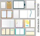 opened realistic 3d notebook... | Shutterstock .eps vector #532228750