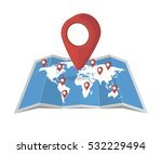 vector world map with pointer...   Shutterstock .eps vector #532229494