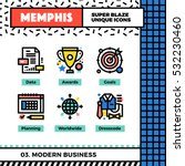 neo memphis style icons with... | Shutterstock .eps vector #532230460
