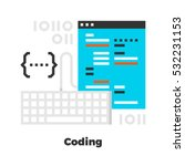 coding flat icon. material... | Shutterstock .eps vector #532231153