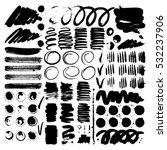 vector ink and paint textures... | Shutterstock .eps vector #532237906