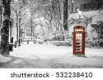 london snow  pretty snow scene... | Shutterstock . vector #532238410