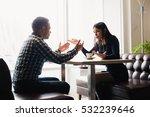 scene in cafe   couple conflict ... | Shutterstock . vector #532239646
