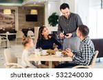 friendly smiling waiter taking... | Shutterstock . vector #532240030