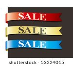 sales ribbon | Shutterstock .eps vector #53224015