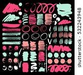 vector ink and paint textures... | Shutterstock .eps vector #532243948