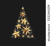 gold stars christmas tree to... | Shutterstock .eps vector #532244209