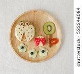 ladybug ladybird healthy lunch  ... | Shutterstock . vector #532246084