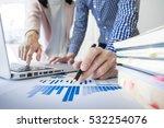 team work process. young... | Shutterstock . vector #532254076