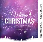 christmas and new year... | Shutterstock .eps vector #532255084