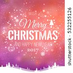 christmas and new year... | Shutterstock .eps vector #532255126
