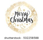 merry christmas text design.... | Shutterstock .eps vector #532258588