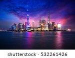 china shanghai city skyline at... | Shutterstock . vector #532261426