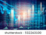 stock market or forex trading... | Shutterstock . vector #532263100