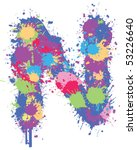 color splatter n | Shutterstock .eps vector #53226640