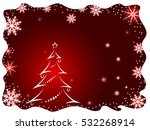 christmas background with...   Shutterstock . vector #532268914