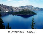 wizard island in crater lake... | Shutterstock . vector #53228