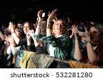 barcelona   feb 6  the crowd...   Shutterstock . vector #532281280