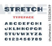 wide font. vector alphabet with ... | Shutterstock .eps vector #532283659