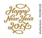 happy new year 2017 lettering... | Shutterstock .eps vector #532284130