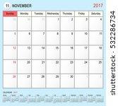 2017 calendar planner design ... | Shutterstock .eps vector #532286734