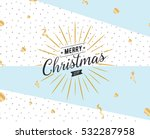 merry christmas text design.... | Shutterstock .eps vector #532287958