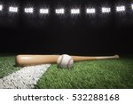 baseball and bat at night under ... | Shutterstock . vector #532288168