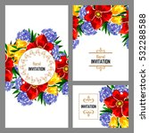 vintage delicate invitation... | Shutterstock .eps vector #532288588