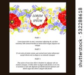 vintage delicate invitation...   Shutterstock .eps vector #532288618