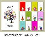 ice cream collection  calendar... | Shutterstock .eps vector #532291258