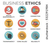 business ethics solid icon set... | Shutterstock .eps vector #532291984