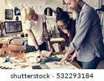 fashion designer sketch drawing ... | Shutterstock . vector #532293184