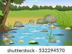 nature  lake | Shutterstock . vector #532294570