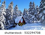 House Covered With Snow In The...