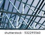 structure of steel roof frame...   Shutterstock . vector #532295560