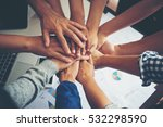 teamwork togetherness... | Shutterstock . vector #532298590