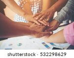 teamwork togetherness... | Shutterstock . vector #532298629