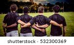 3d cloudy sky against rugby... | Shutterstock . vector #532300369