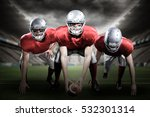 3d american football players... | Shutterstock . vector #532301314