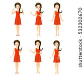 set of girl character | Shutterstock . vector #532302670